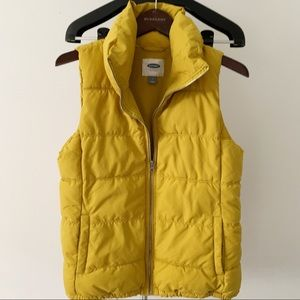 Old Navy Yellow Puffer Vest